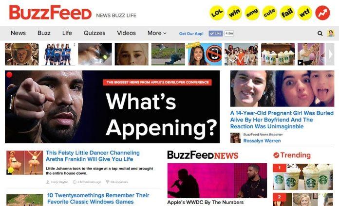 BuzzFeed desktop website screenshot